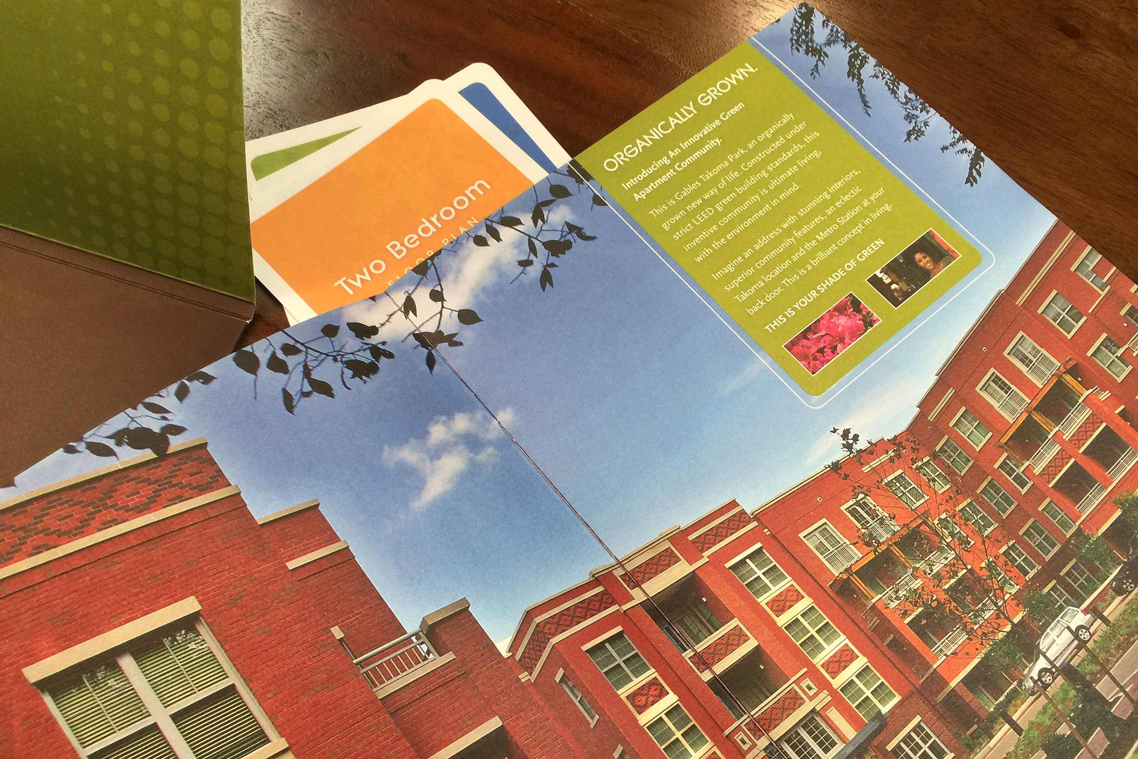 Gables Takoma Park Collateral - Brochure Spread with Floor Plan Inserts