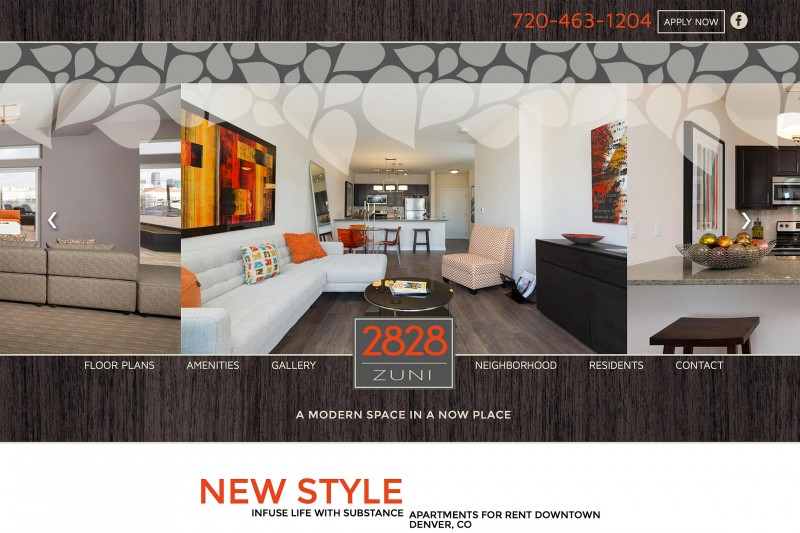 2828 Zuni Luxury Apartments Responsive WordPress Site