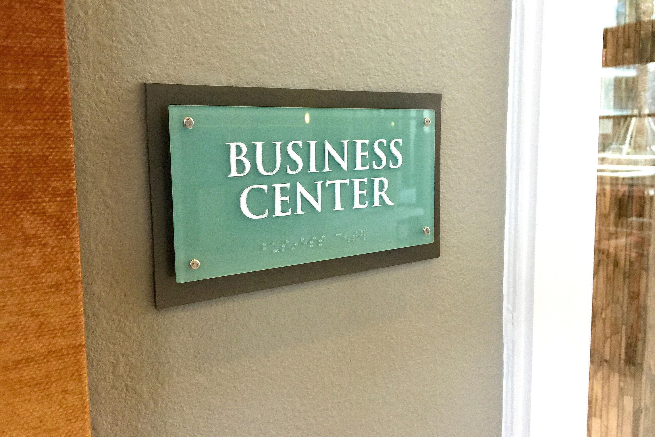 Aura Memorial Business Center ID with ADA/Braille