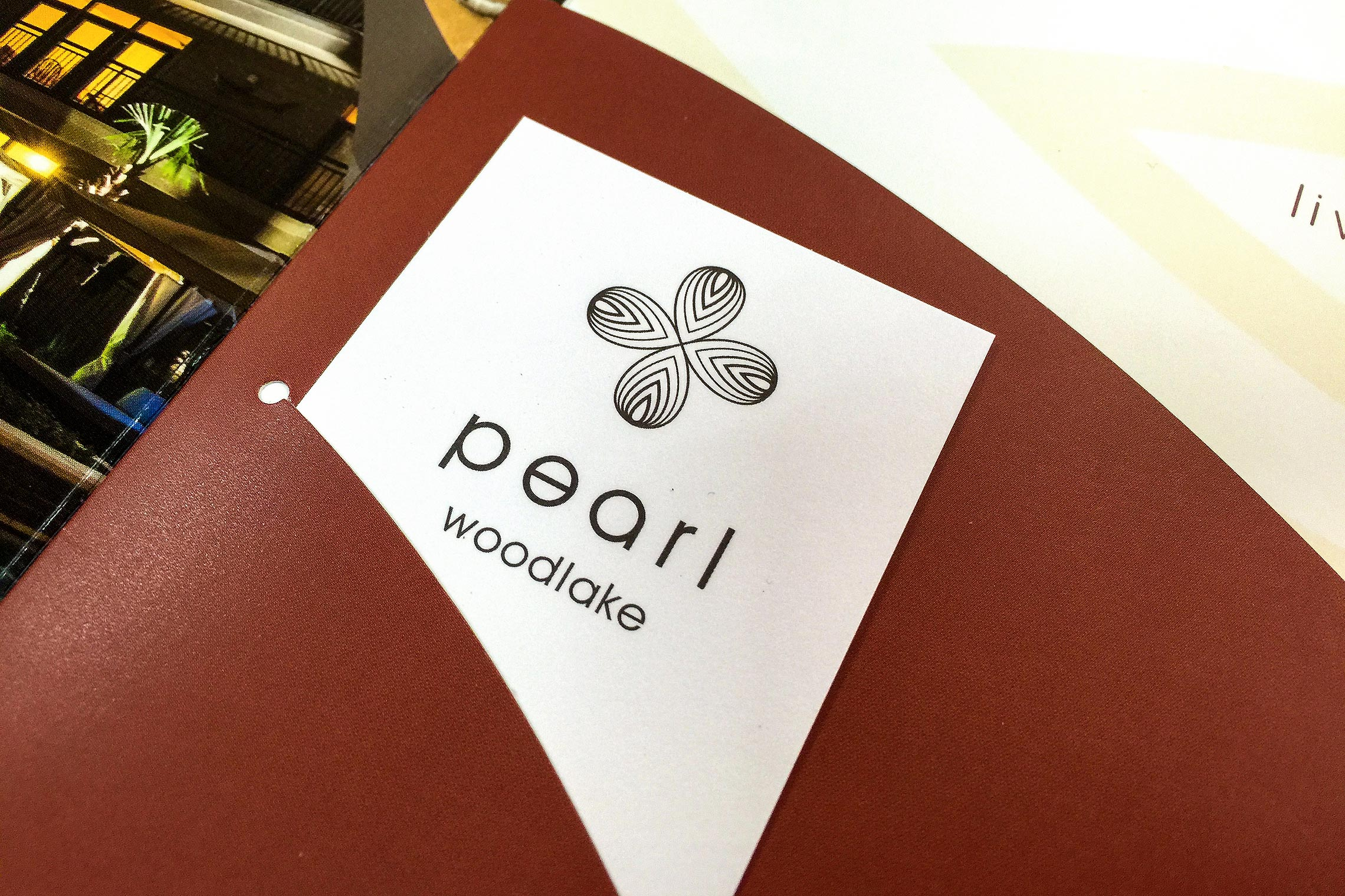 pearl woodlake custom collateral design