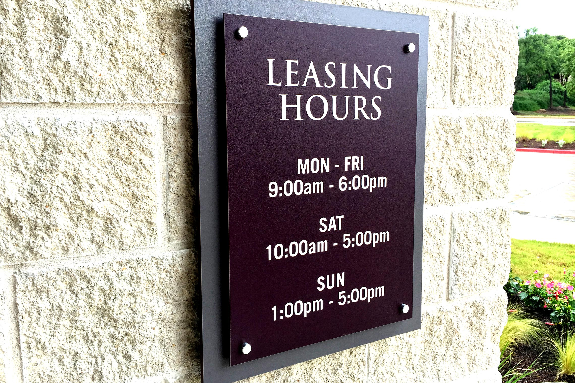 Aura 33Hundred Leasing Office Hours with Stand-Offs