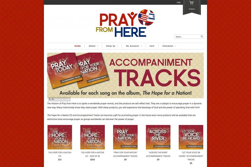Pray From Here Responsive WordPress Site Design