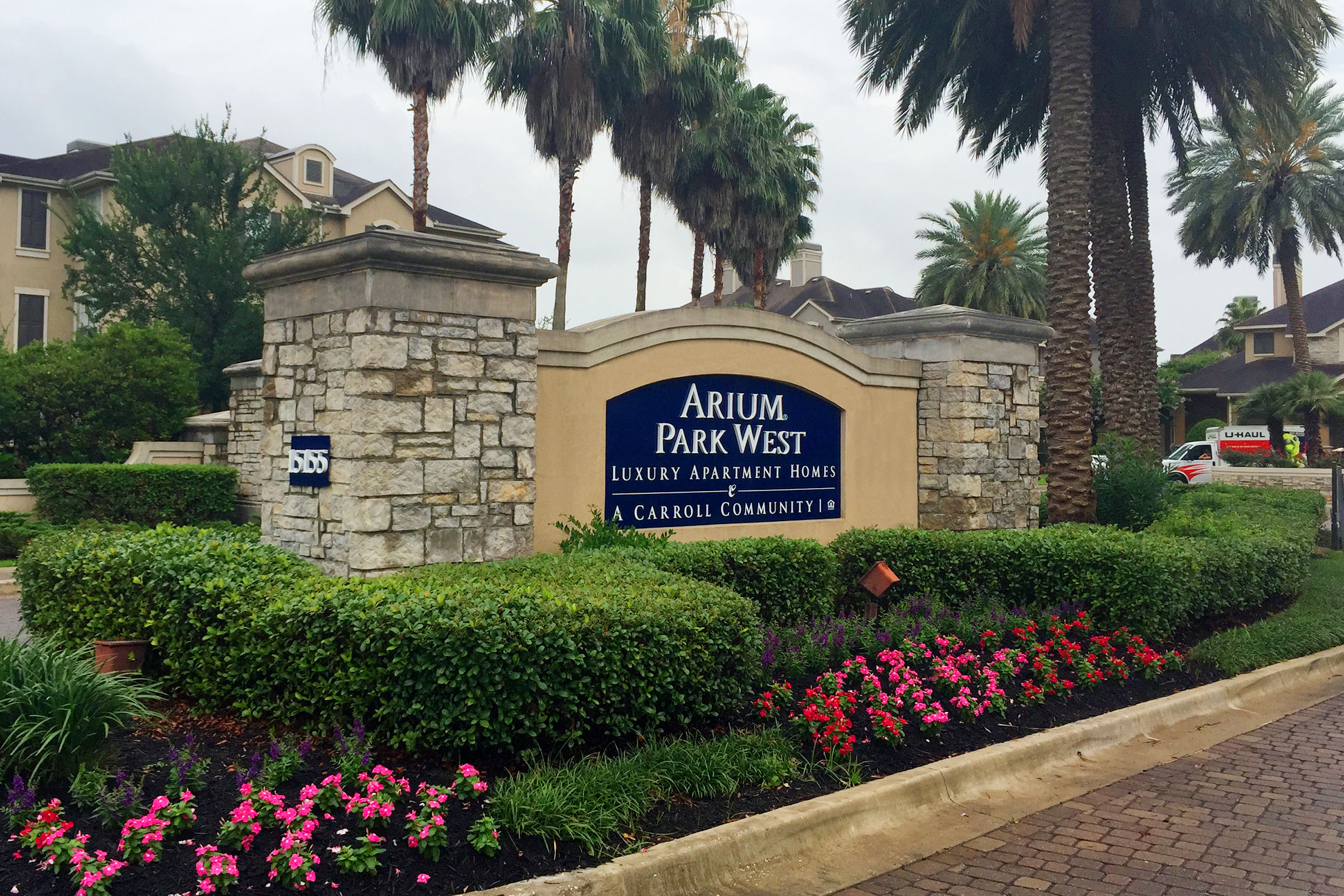 Arium Park West Luxury Apartment Homes Monument Reface with Address Number