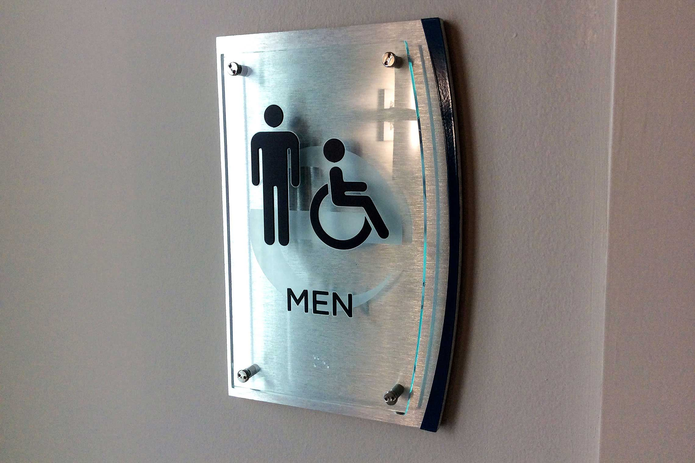 Echo City Apartments Men Restroom ID with ADA/Braille