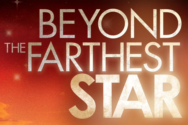 Beyond the Farthest Star Logo with Star Background
