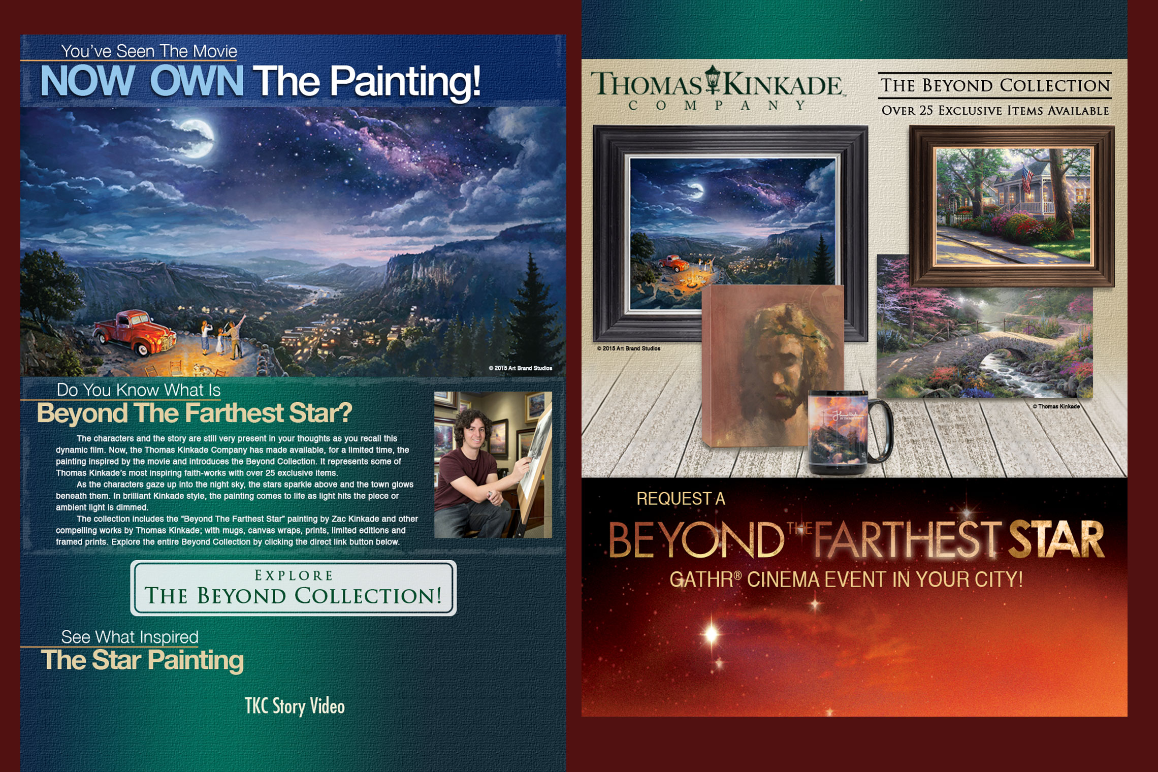 Beyond the Farthest Star Thomas Kinkade Company Painting Flyer