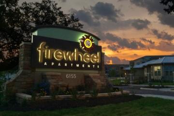 Firewheel Illuminated Monument