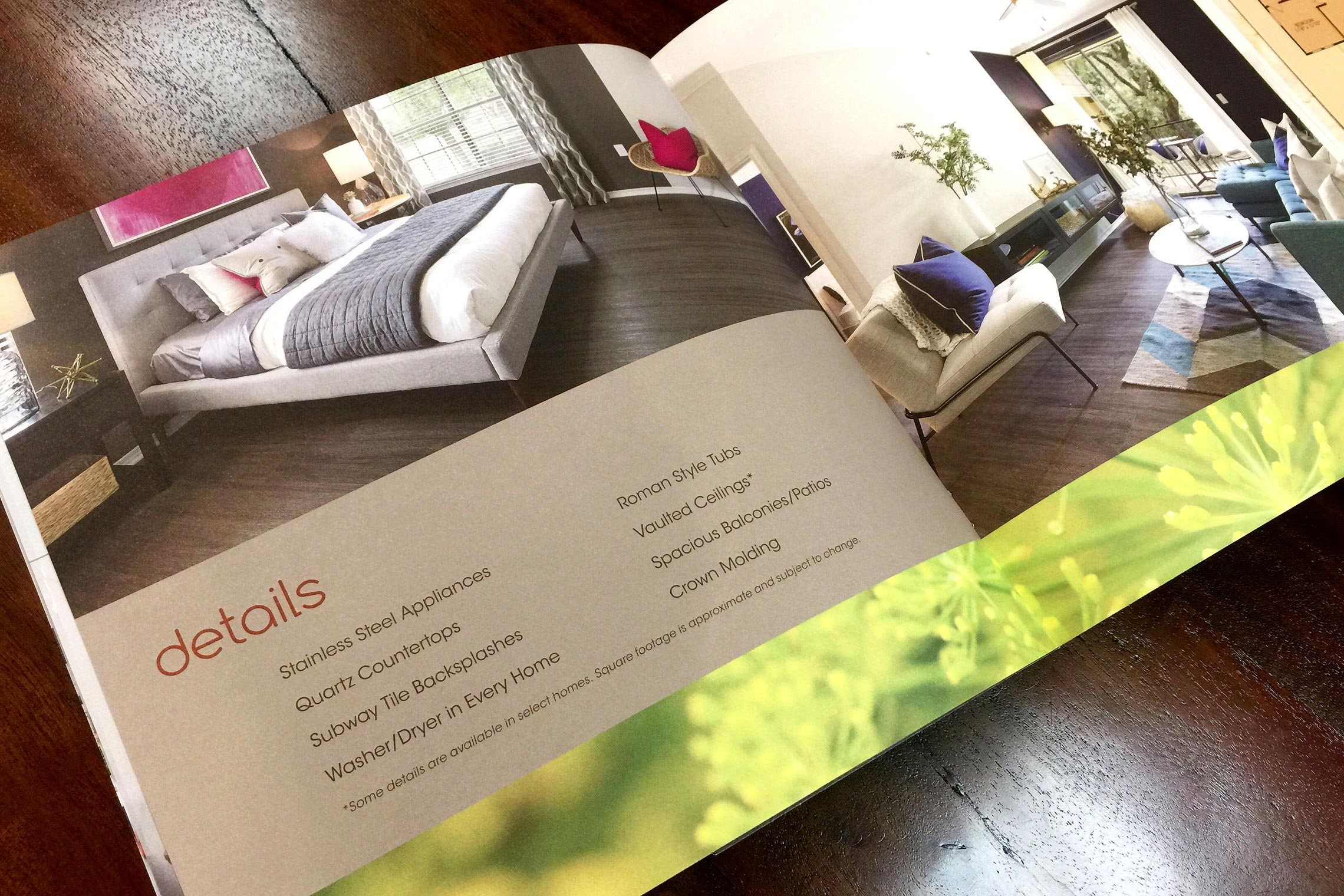 Folio Apartment Homes Custom Collateral - Brochure Amenity Details Spread