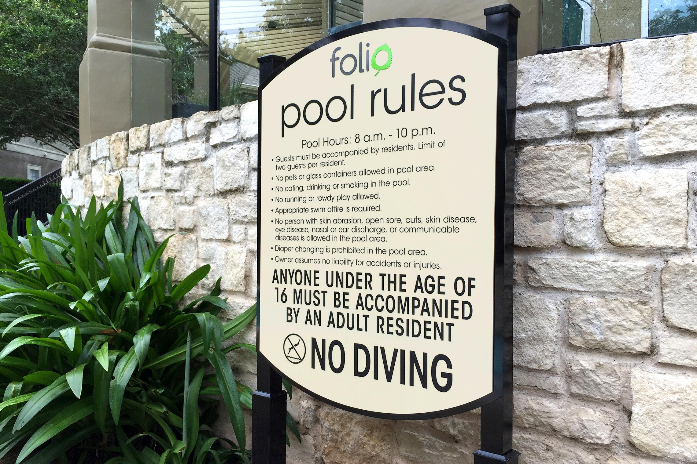 Folio Apartment Homes Pool Rules on Post