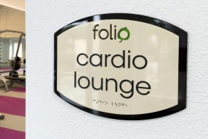 Folio Cardio Lounge ID with ADA/Braille
