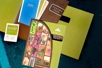 Gables Takoma Park Apartments Pocket Folder with Die-Cut Brochure with Inserts