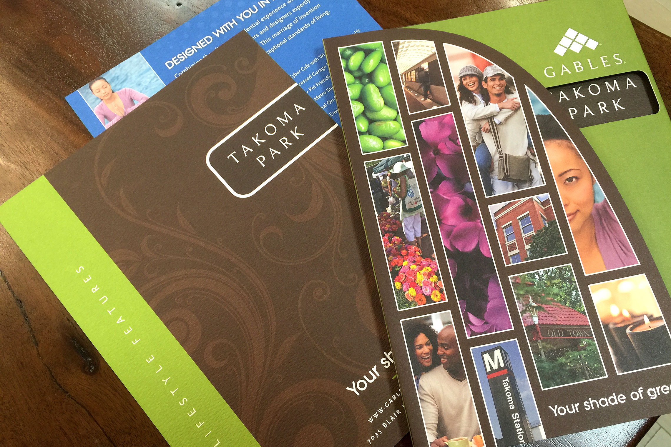 Gables Takoma Park Collateral - Pocket Folder Brochure with Flyer