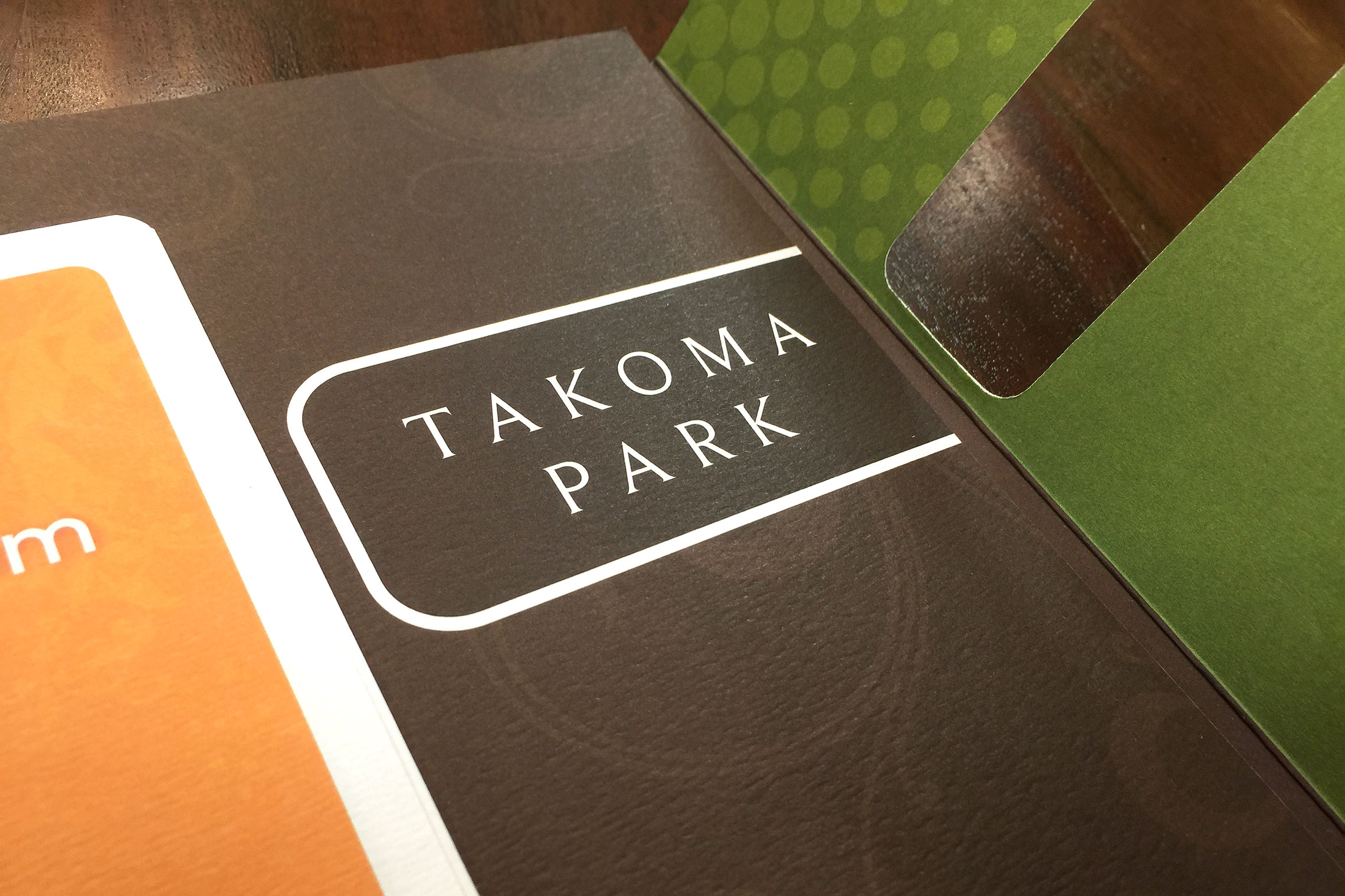 Gables Takoma Park Collateral - Pocket Folder Brochure Detail