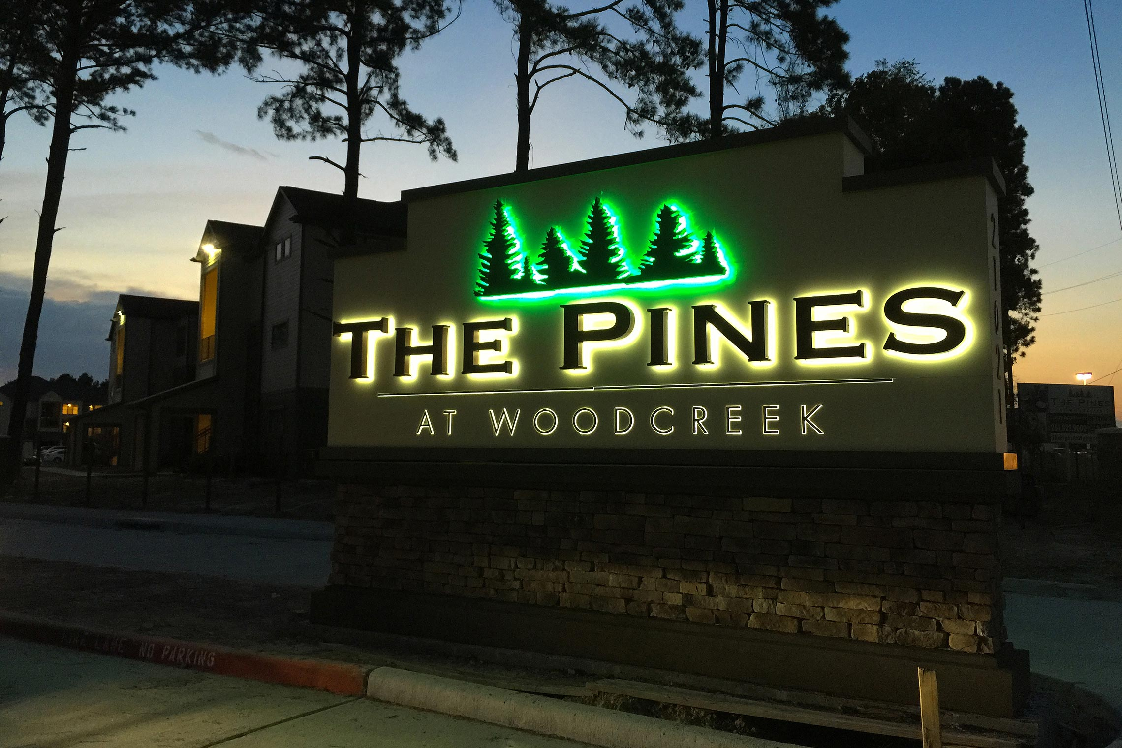 The Pines At Woodcreek Affordable Sign Robinson Creative