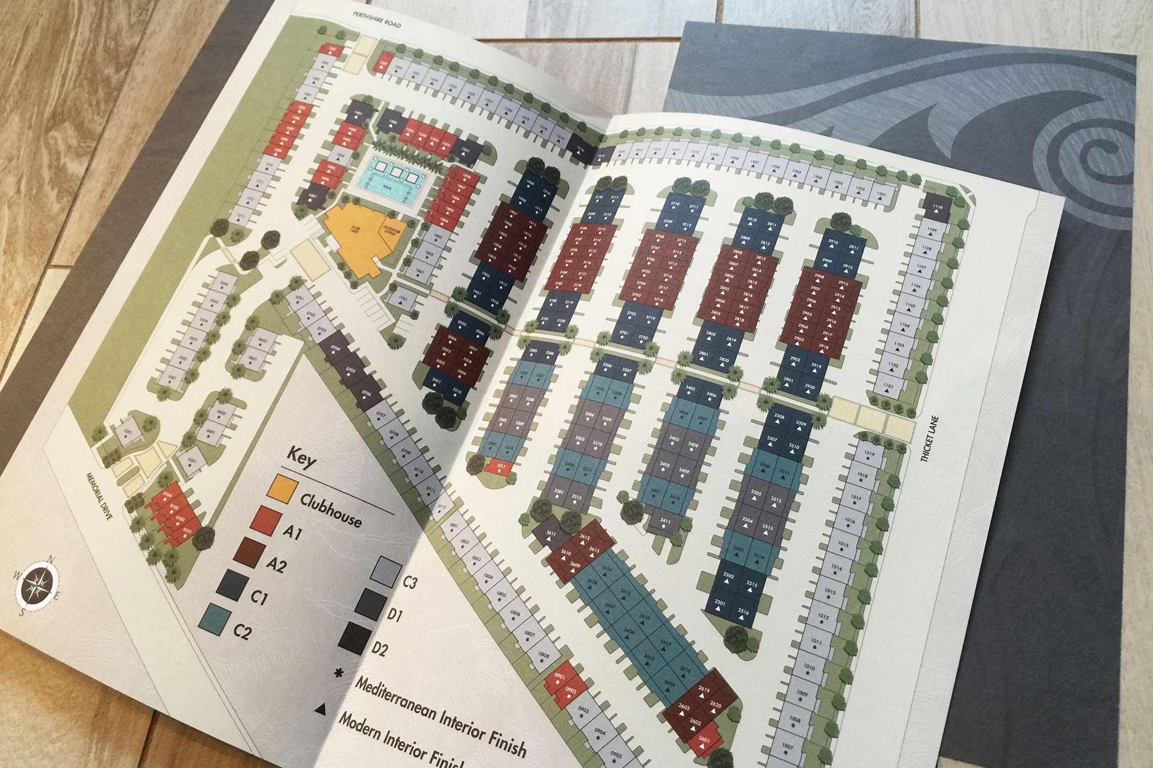Domain Memorial Luxury Rental Townhomes - Site Plan in Fold-Out