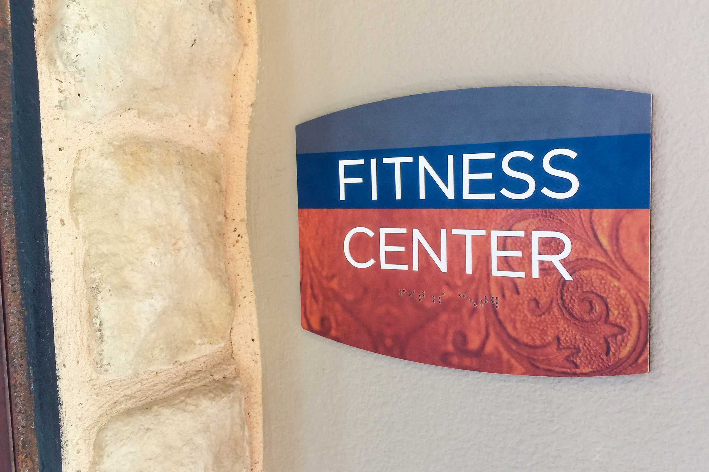 Design Sign Studio Reveal Fusion Series Signage - Fitness Center ID