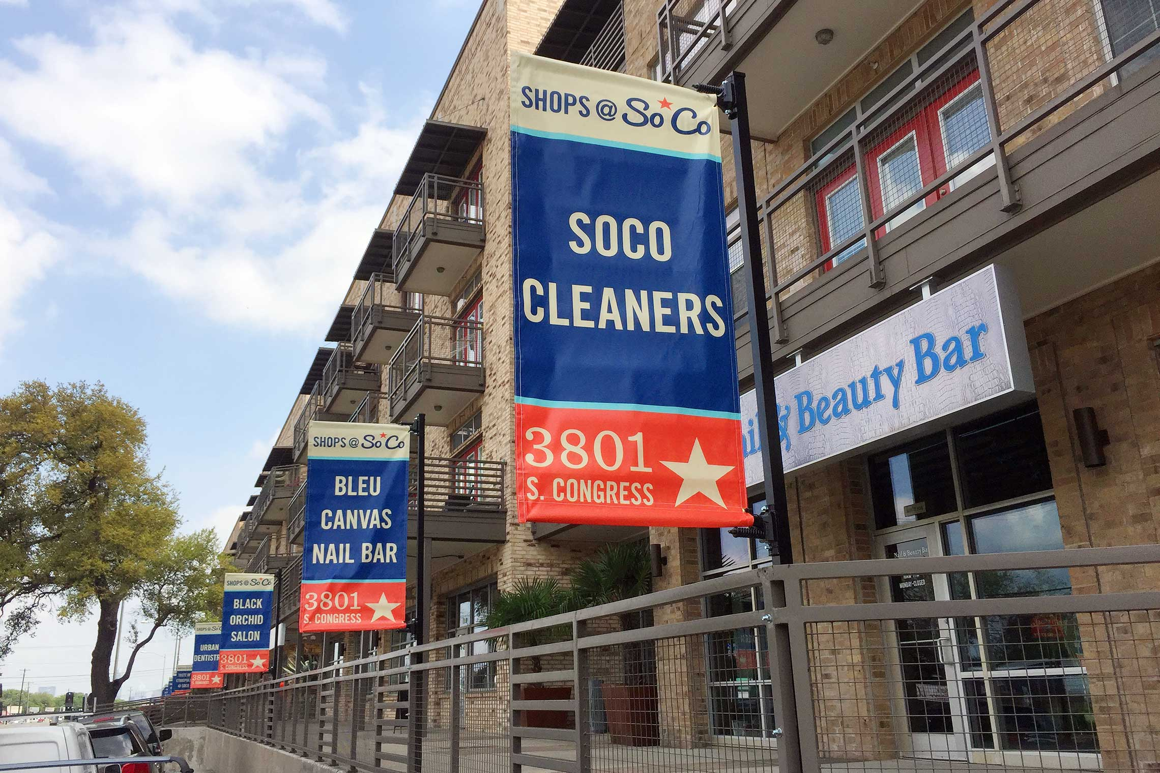 The Davis Soco Apartments Avenue Banner for Marketing