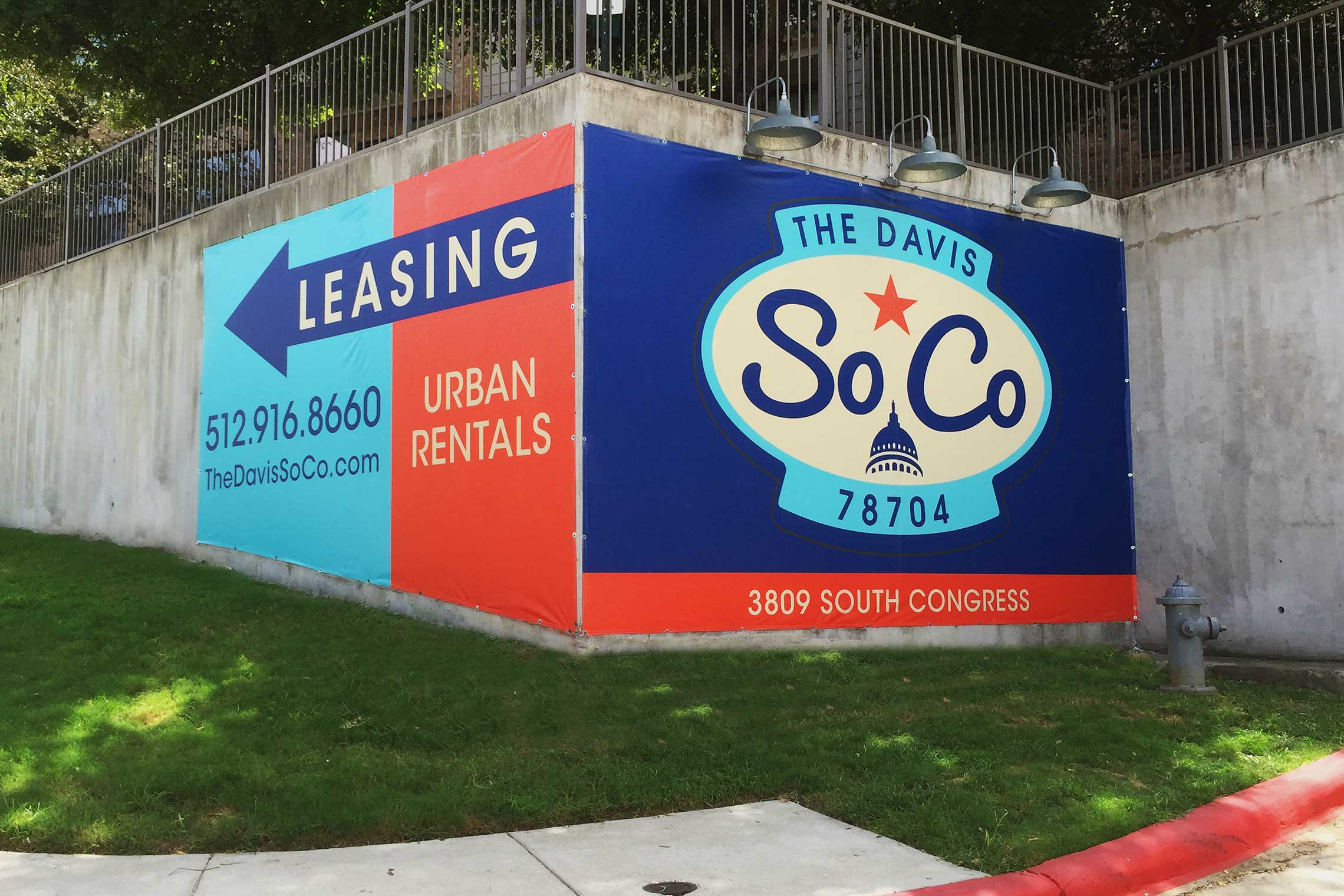 The Davis Soco Apartments Huge Directional Banner
