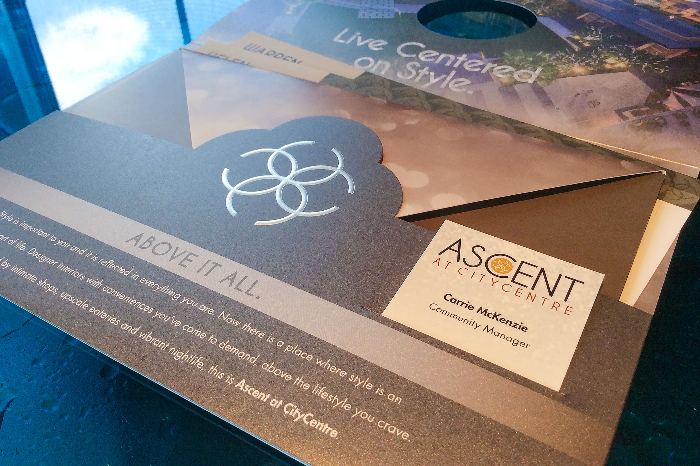 Ascent at CITYCENTRE Collateral - Pocket Folder Brochure Detail