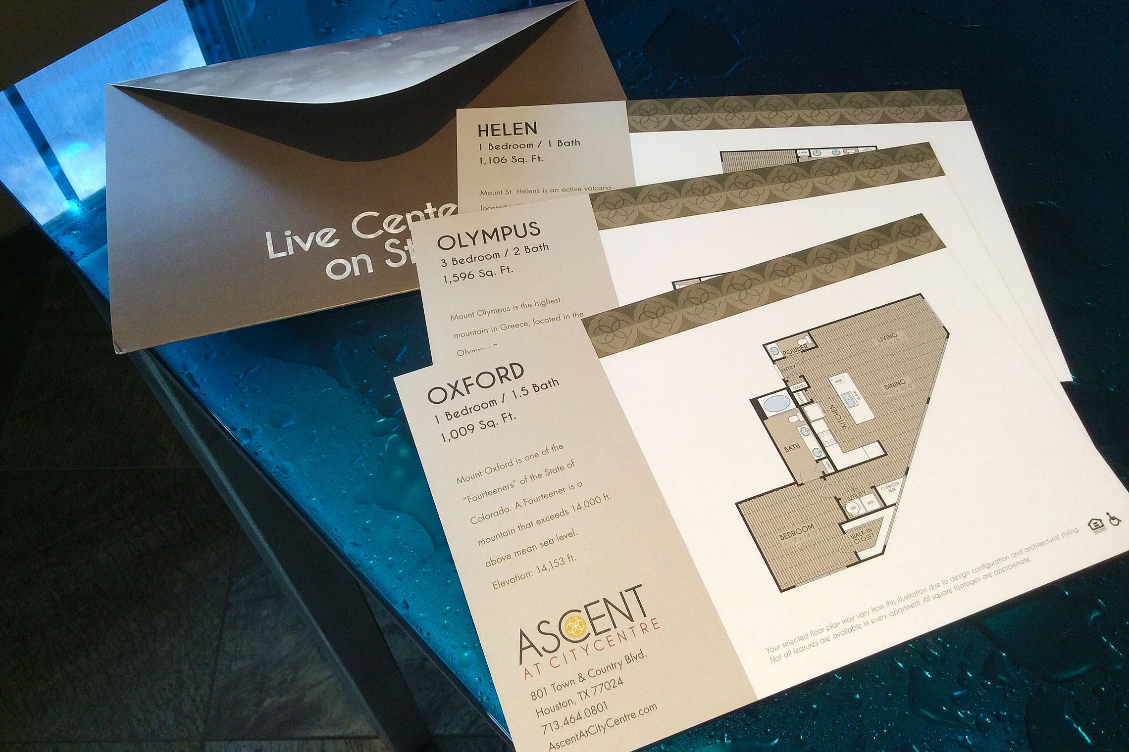 Ascent at CITYCENTRE Collateral - Amenity Fold-Out and Floor Plan Inserts