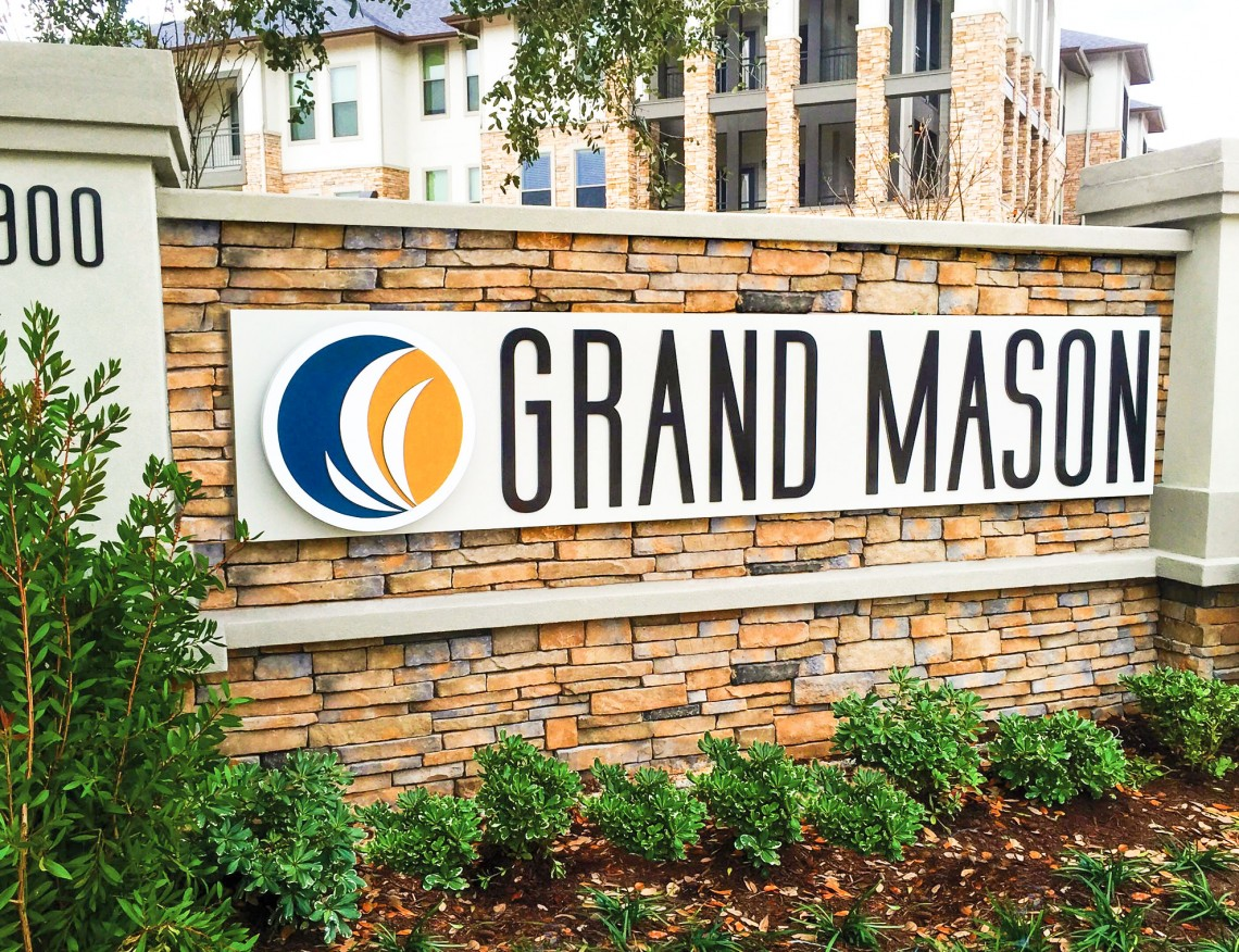 Grand Mason Monument with Address Number