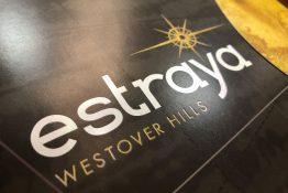 Estraya Westover Hills Pocket Folder Brochure with Foil on Logo