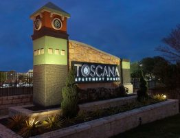 Toscana Apartments Complete Monument Reface with New Paint