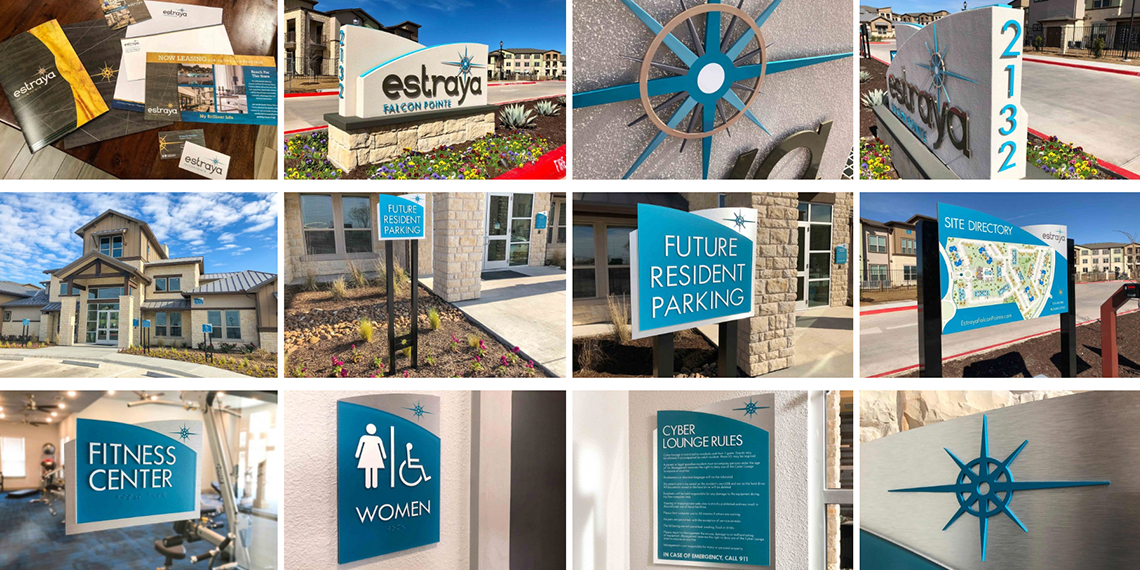 Monument Signage with Consistent Marketing Materials
